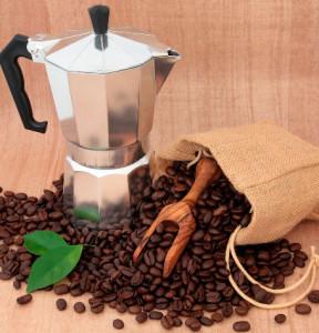 příprava kávy - italské presso